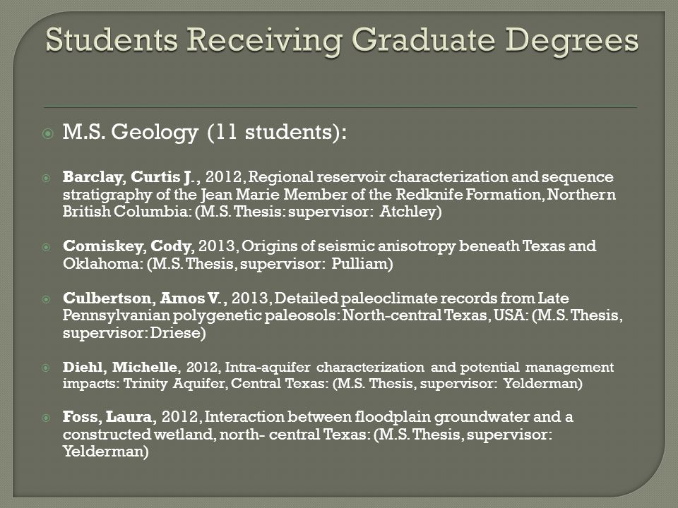 Students Receiving Graduate Degrees