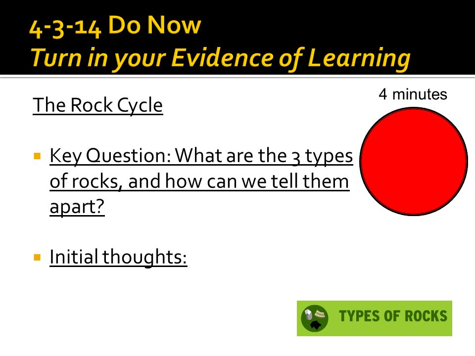 4-3-14 Do Now Turn in your Evidence of Learning