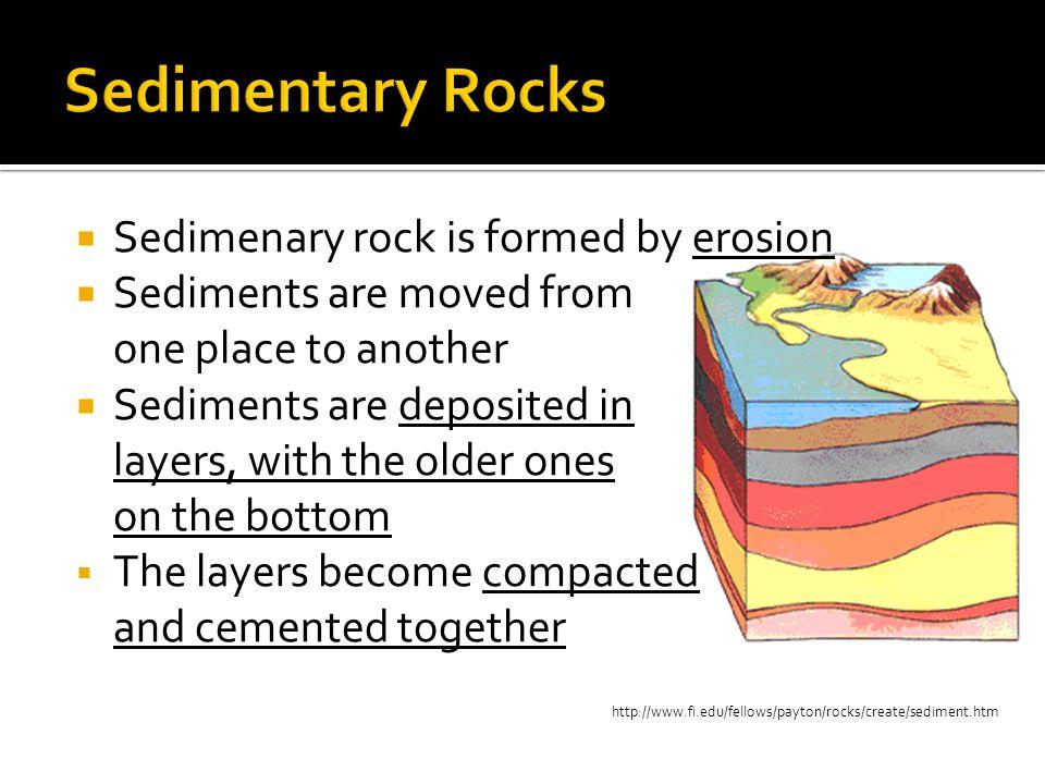 Sedimentary Rocks Sedimenary rock is formed by erosion