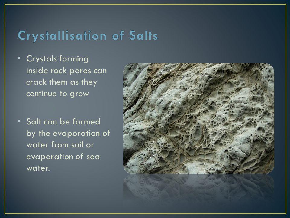 Crystallisation of Salts