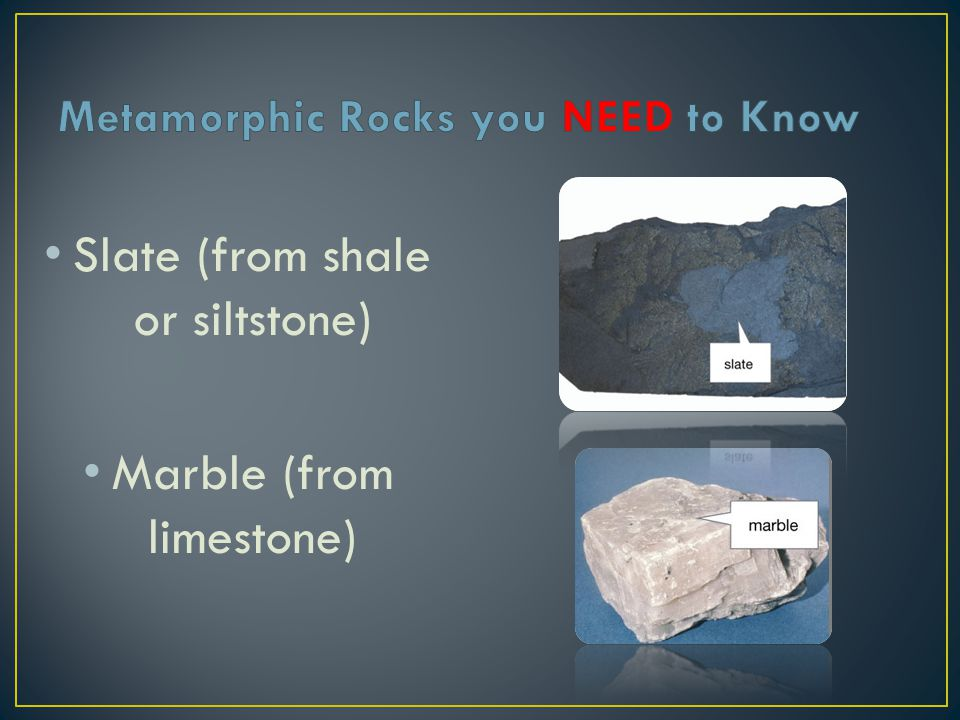 Metamorphic Rocks you NEED to Know