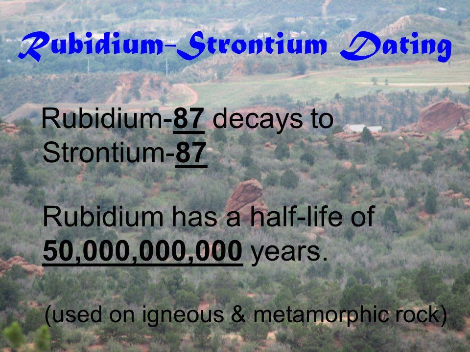 Rubidium-Strontium Dating