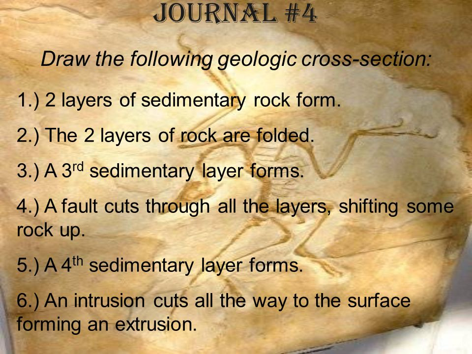 Draw the following geologic cross-section: