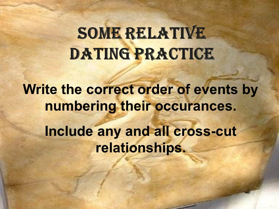 SOME Relative Dating Practice