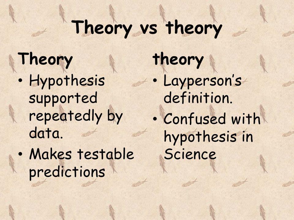 Theory vs theory Theory theory