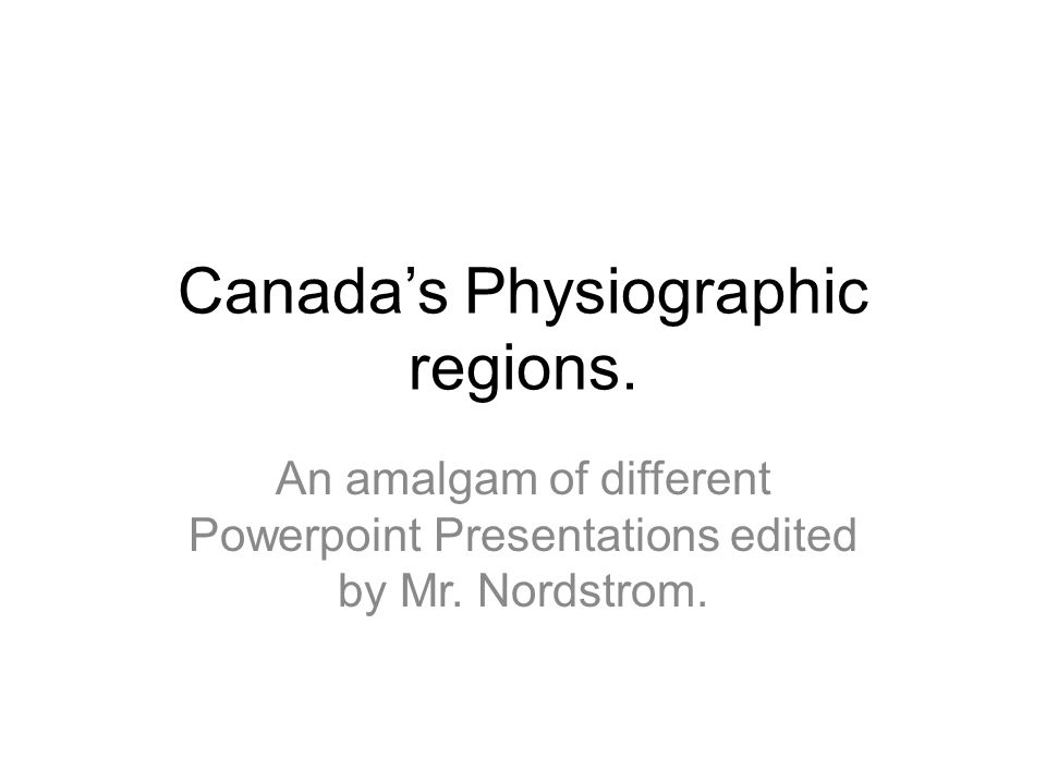 Canada's Physiographic regions.