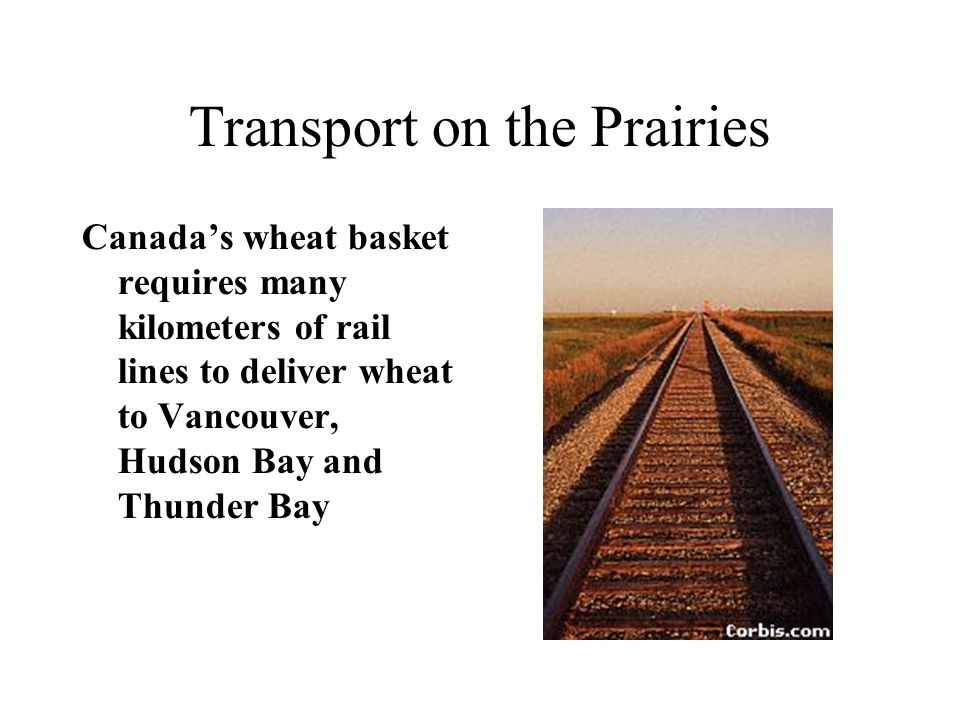 Transport on the Prairies