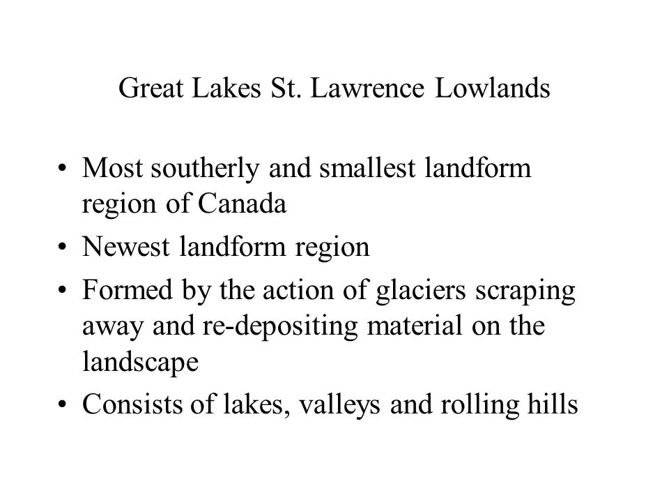 Great Lakes St. Lawrence Lowlands