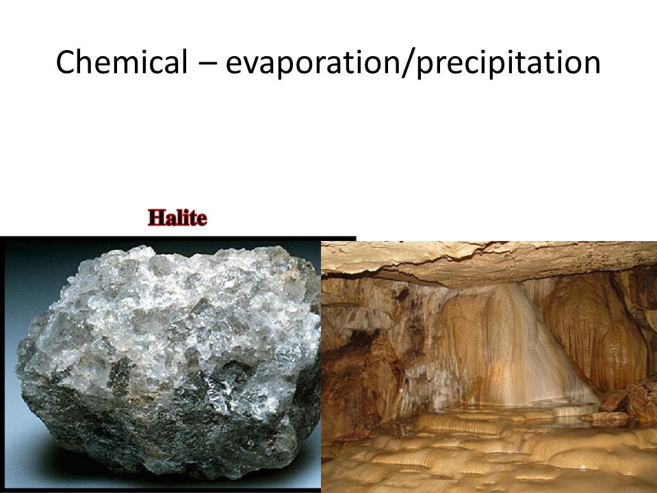 Chemical – evaporation/precipitation