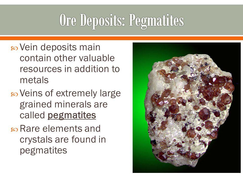 Ore Deposits: Pegmatites