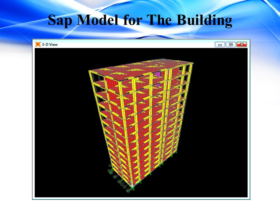 Sap Model for The Building