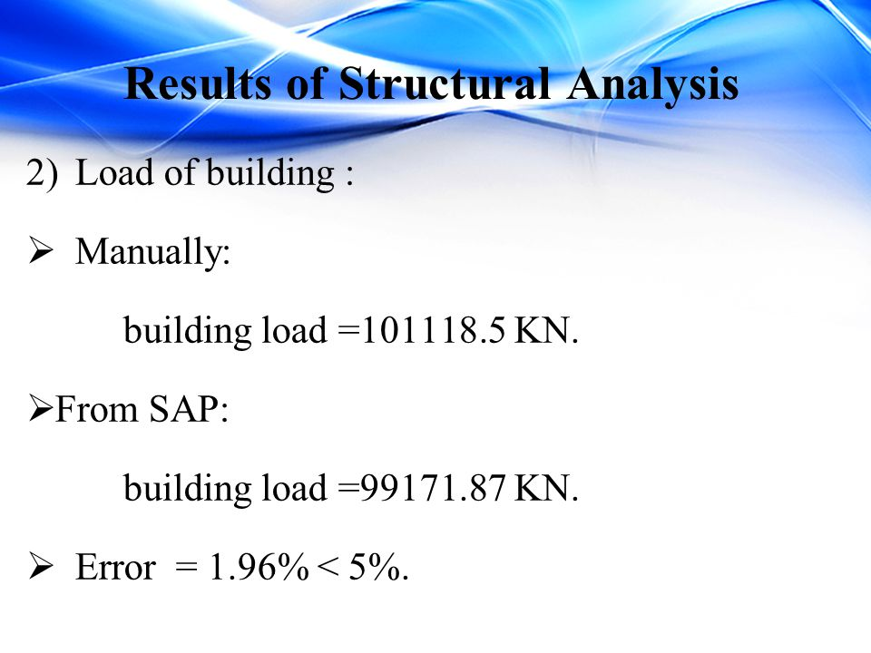 Results of Structural Analysis