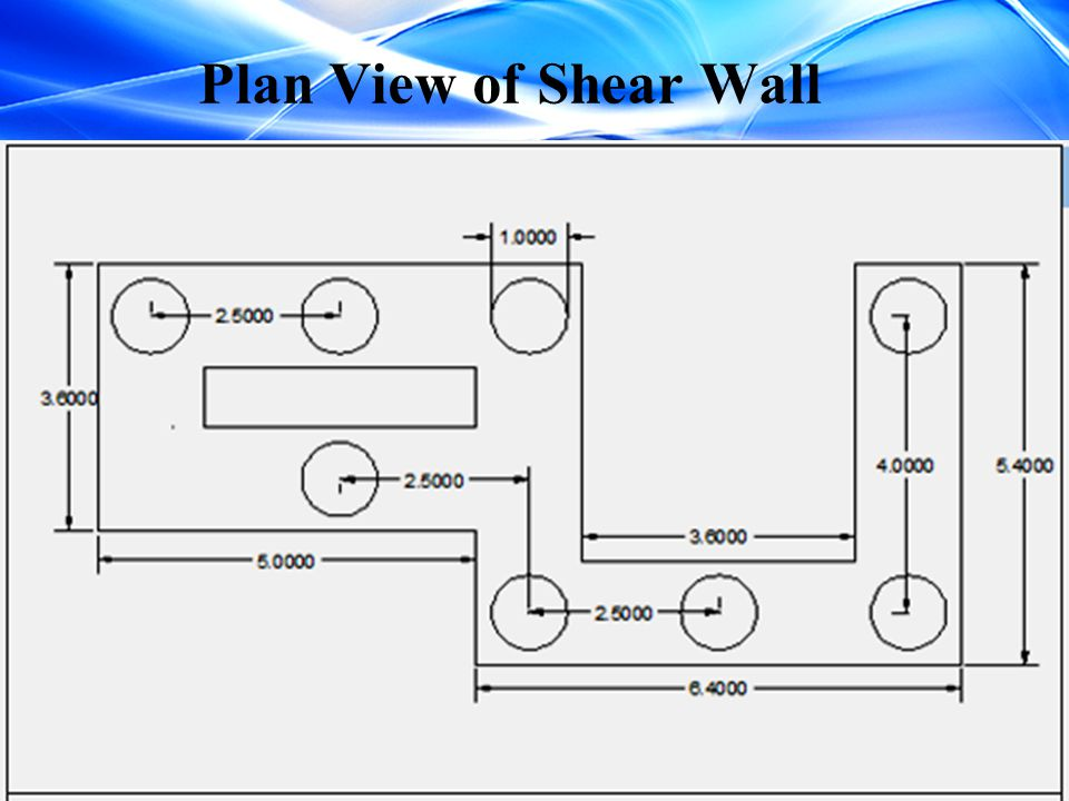 Plan View of Shear Wall