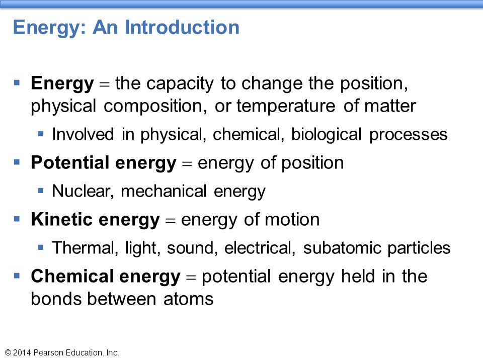 Energy: An Introduction