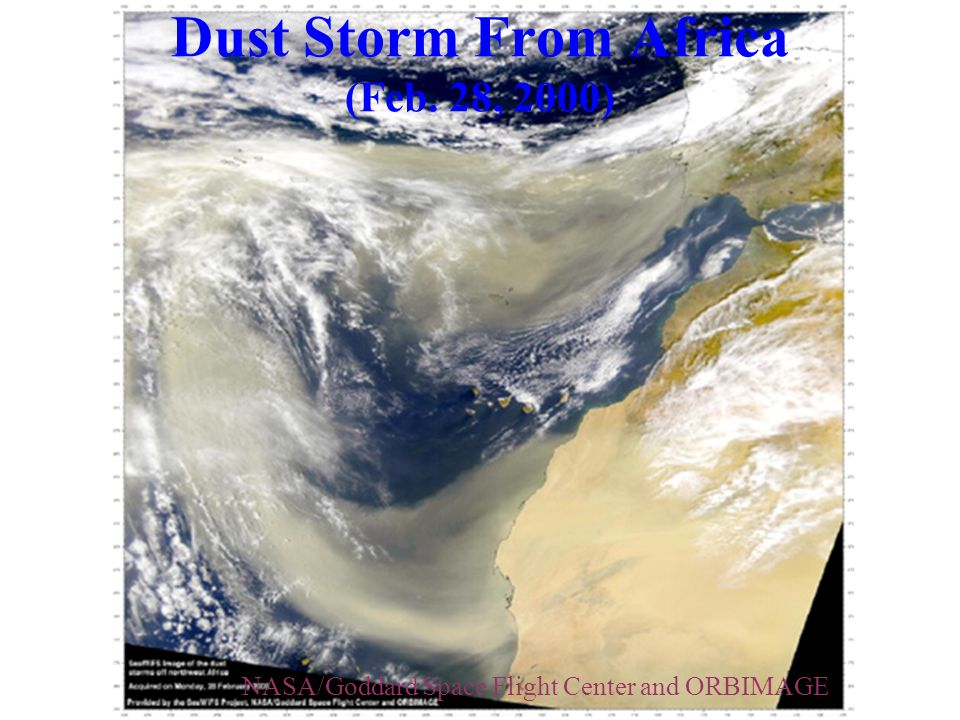 Dust Storm From Africa (Feb. 28, 2000)