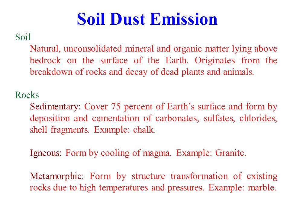 Soil Dust Emission Soil