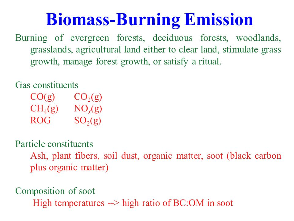 Biomass-Burning Emission