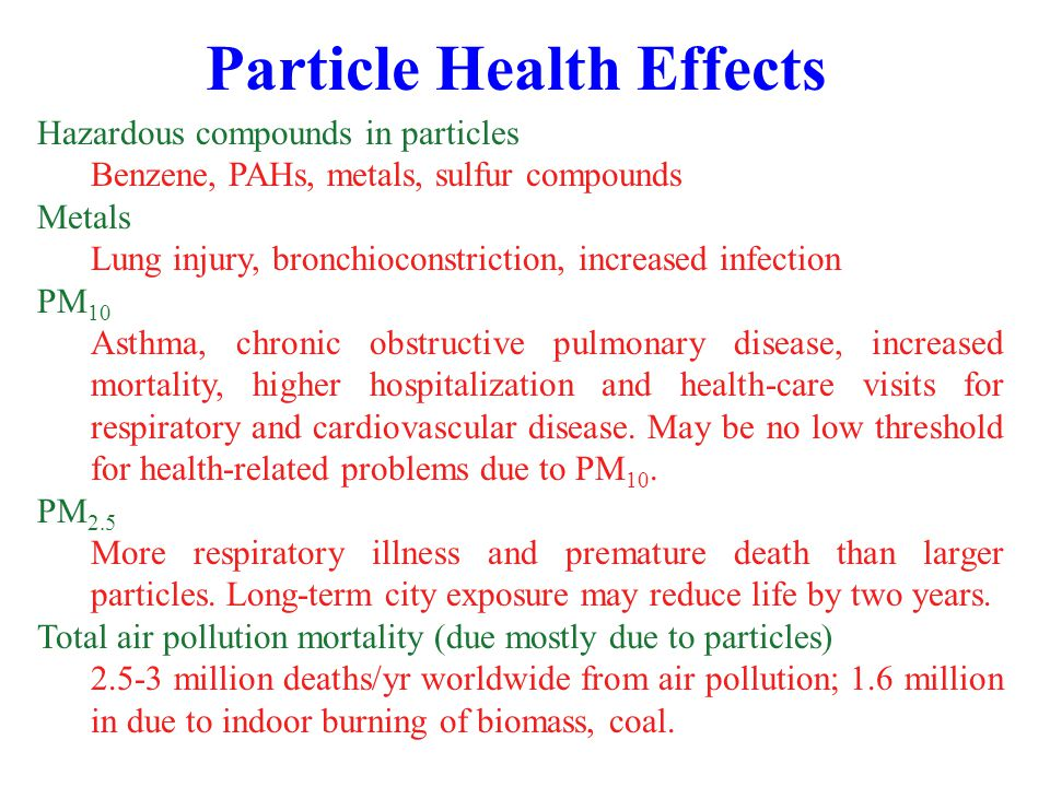 Particle Health Effects