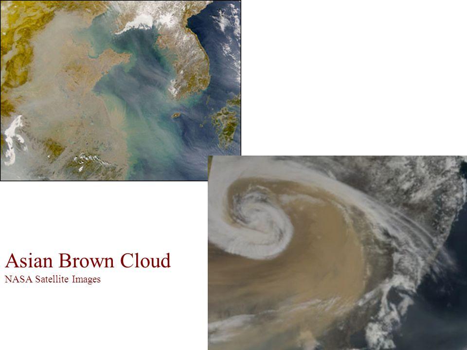 Asian Brown Cloud NASA Satellite Images