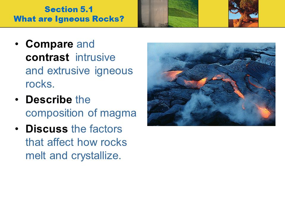 Section 5.1 What are Igneous Rocks