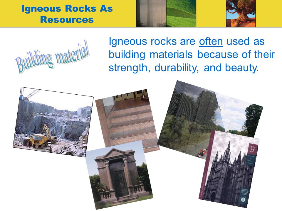 Igneous Rocks As Resources