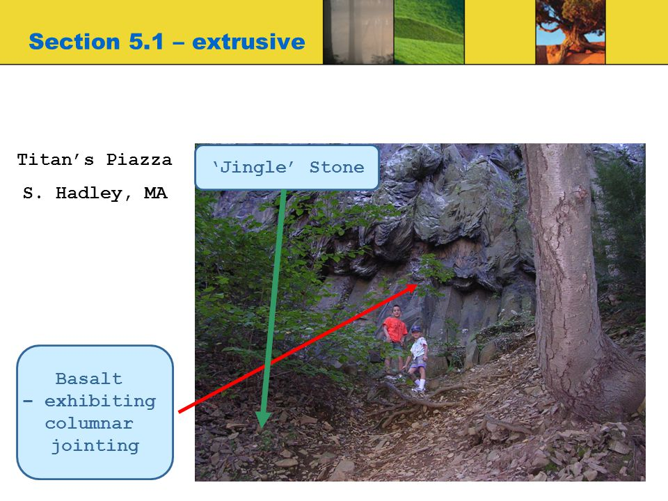 Section 5.1 – extrusive Titan's Piazza 'Jingle' Stone S. Hadley, MA