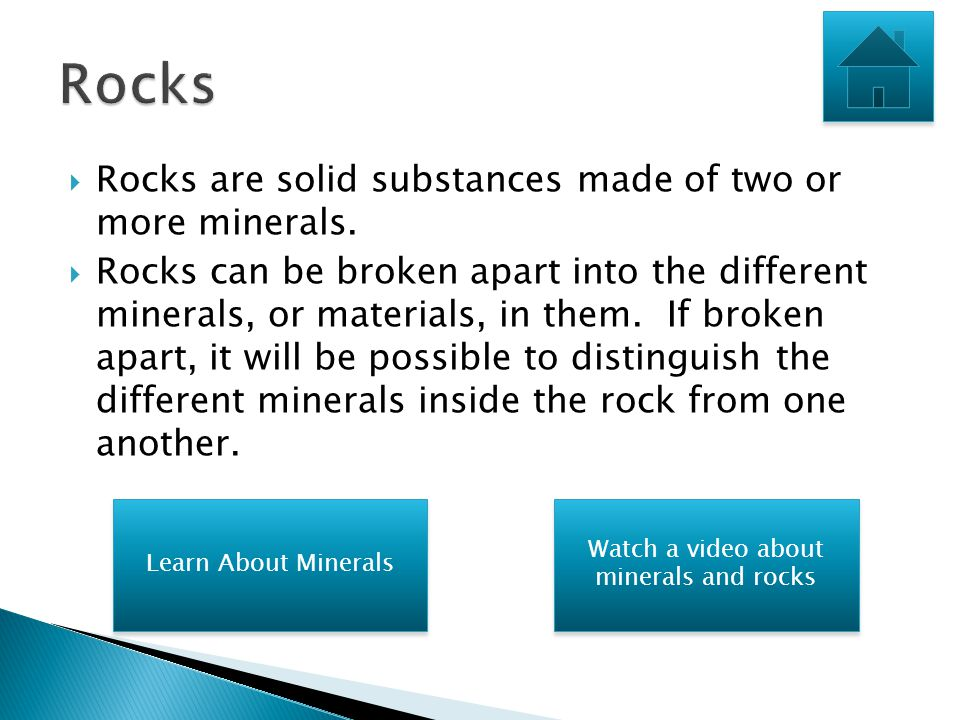 Watch a video about minerals and rocks