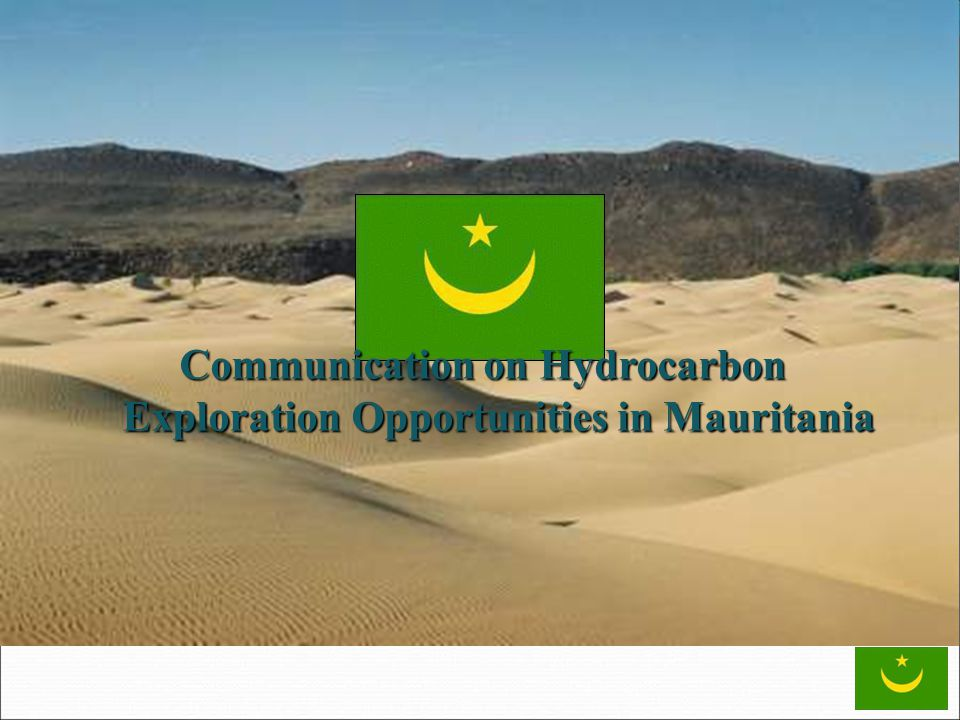 Communication on Hydrocarbon Exploration Opportunities in Mauritania
