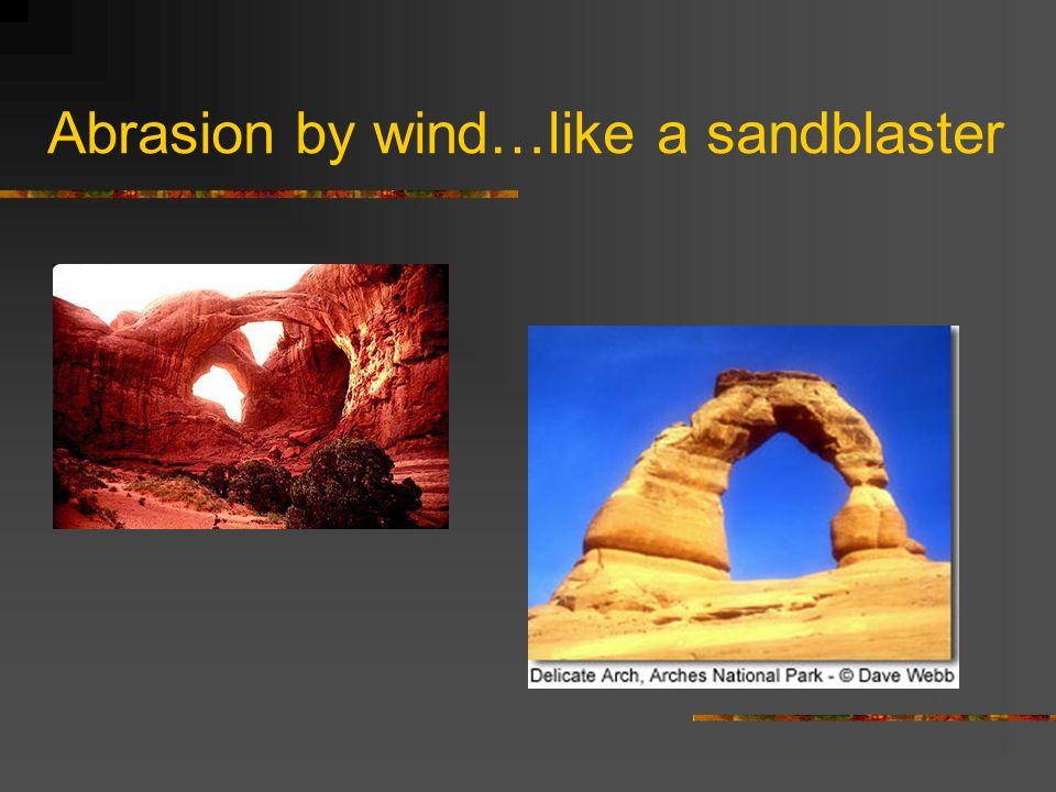 Abrasion by wind…like a sandblaster