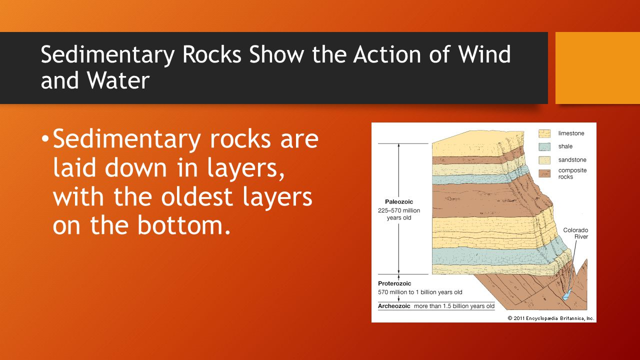 Sedimentary Rocks Show the Action of Wind and Water