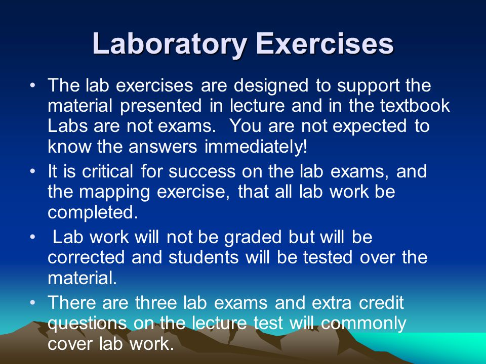 Laboratory Exercises
