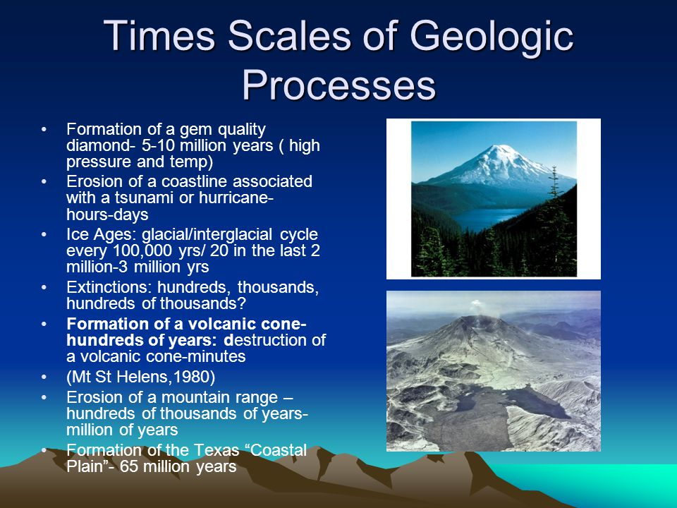 Times Scales of Geologic Processes