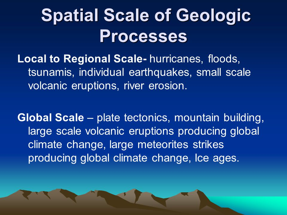 Spatial Scale of Geologic Processes