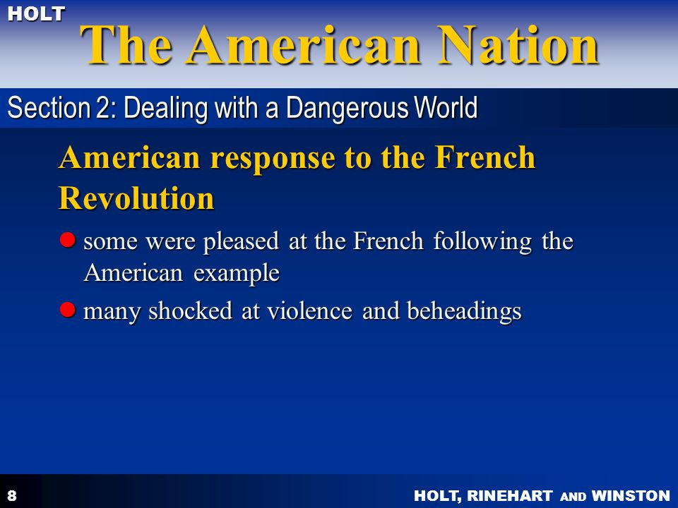 American response to the French Revolution
