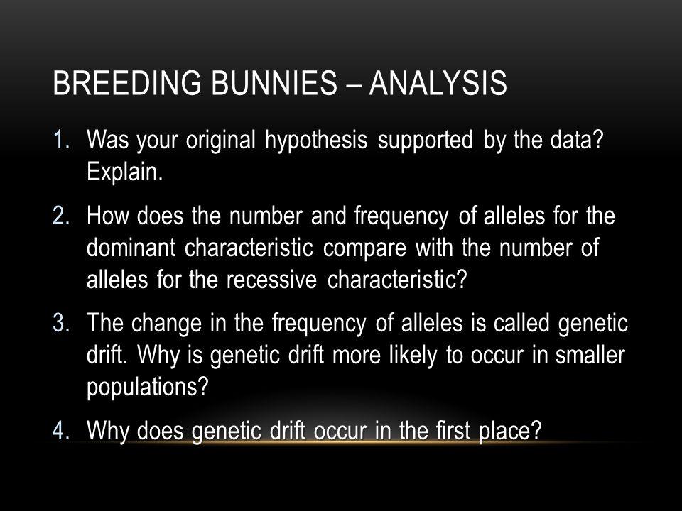 Breeding Bunnies – Analysis