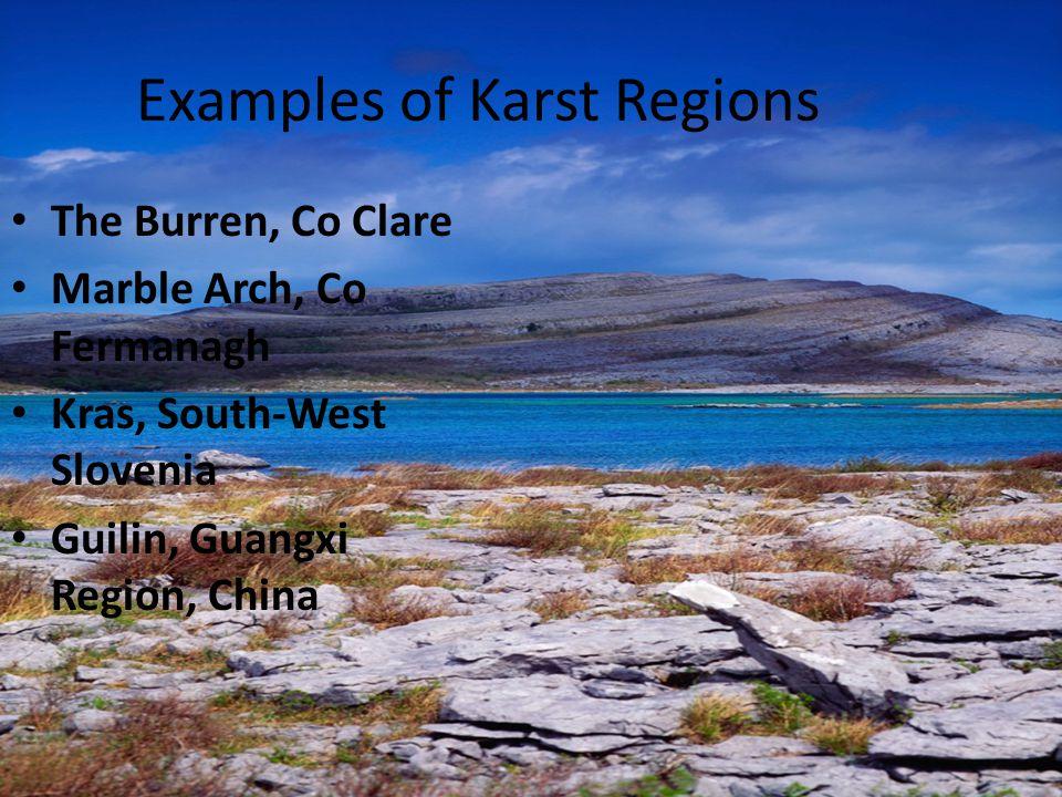Examples of Karst Regions