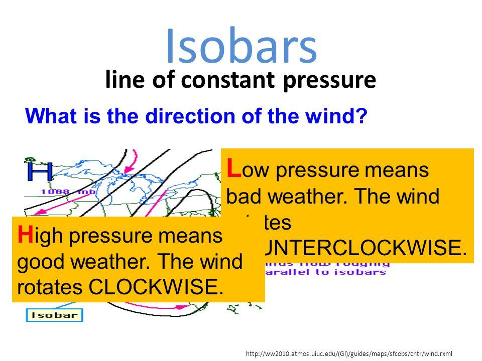 line of constant pressure