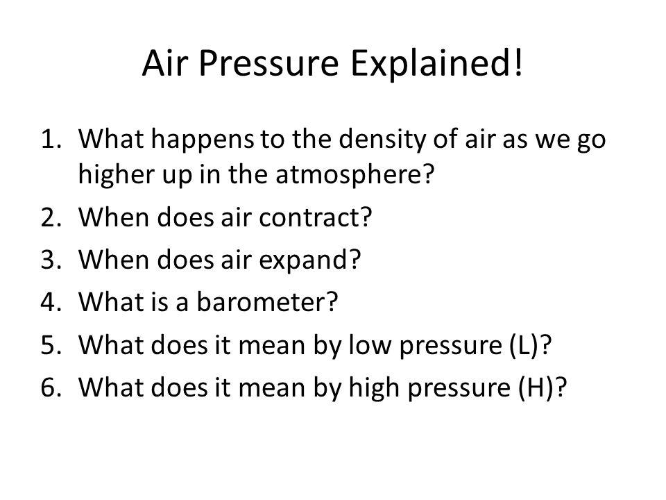 Air Pressure Explained!