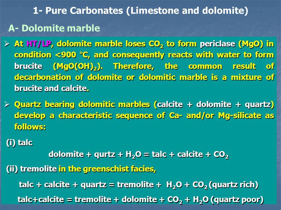 1- Pure Carbonates (Limestone and dolomite)