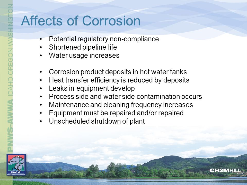 Affects of Corrosion Potential regulatory non-compliance