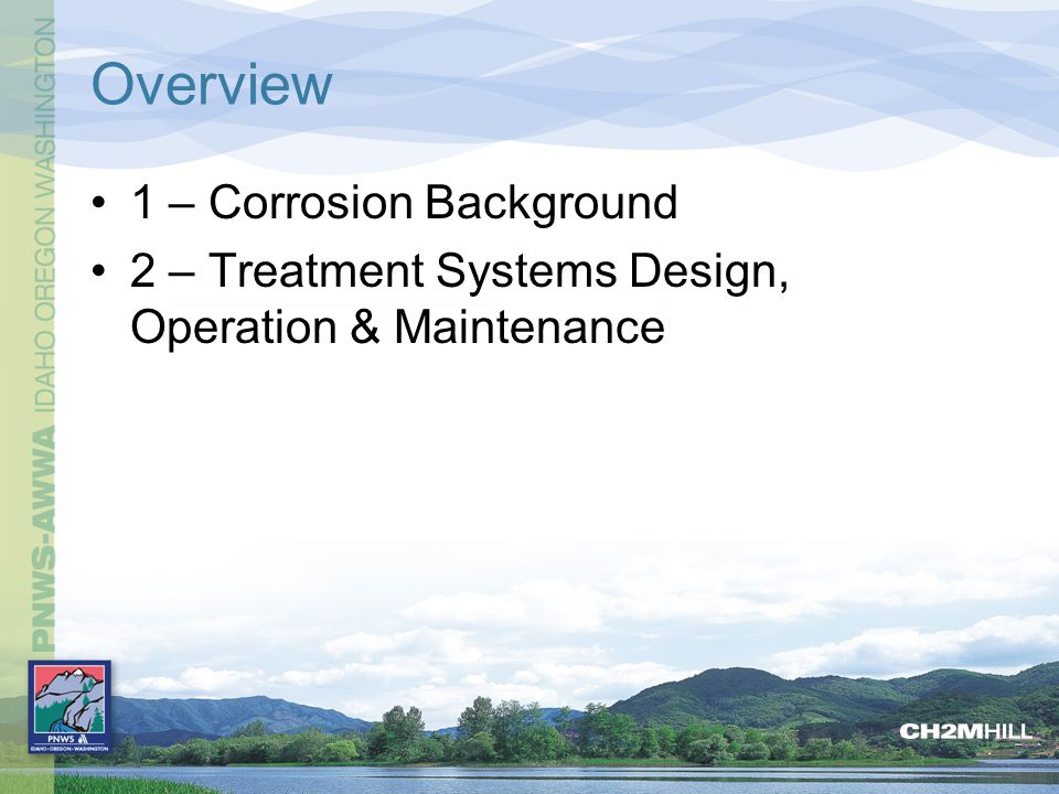 Overview 1 – Corrosion Background