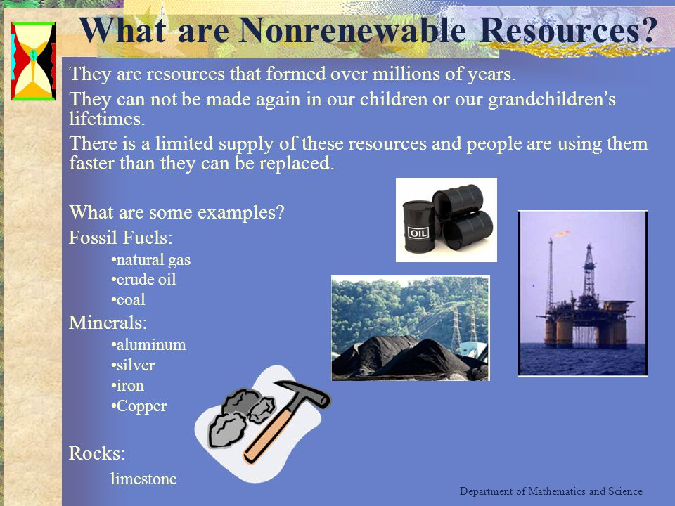 What are Nonrenewable Resources