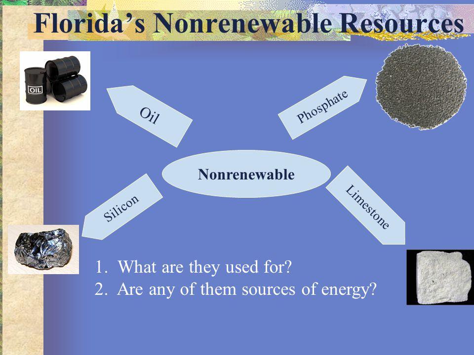 Florida's Nonrenewable Resources