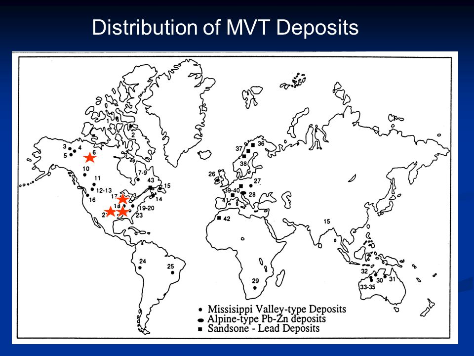 Distribution of MVT Deposits