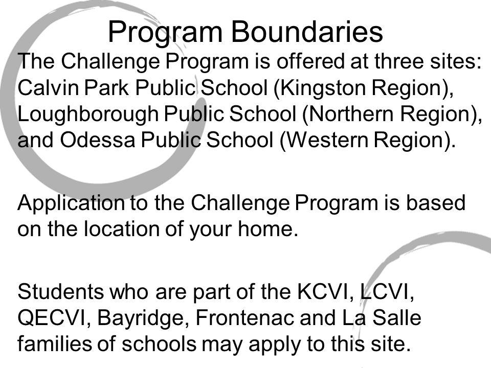 Program Boundaries