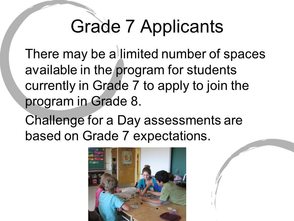 Grade 7 Applicants