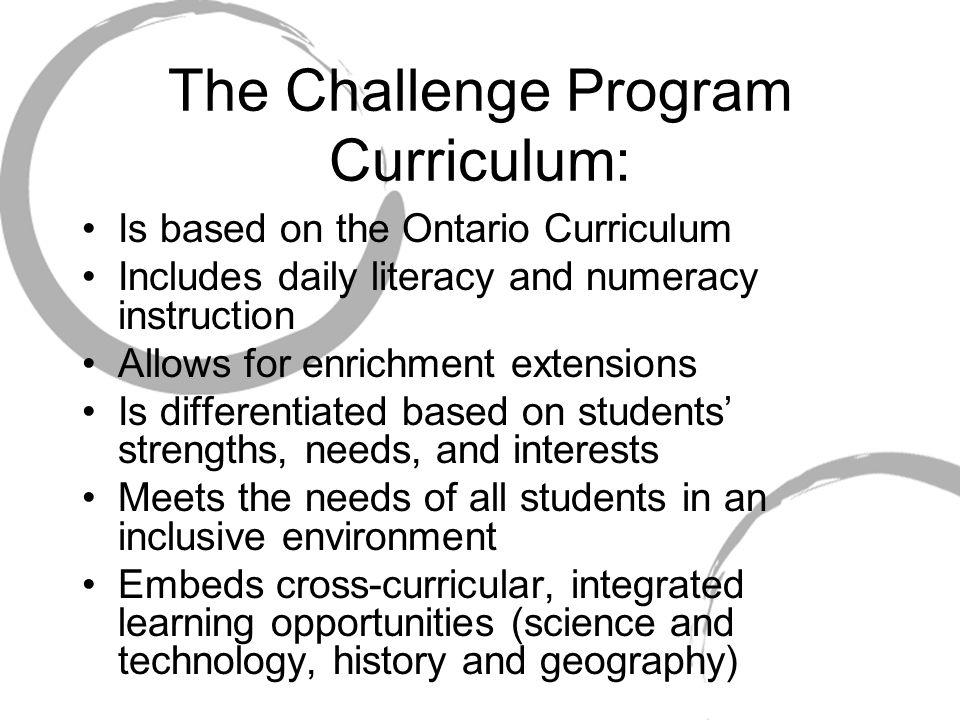 The Challenge Program Curriculum:
