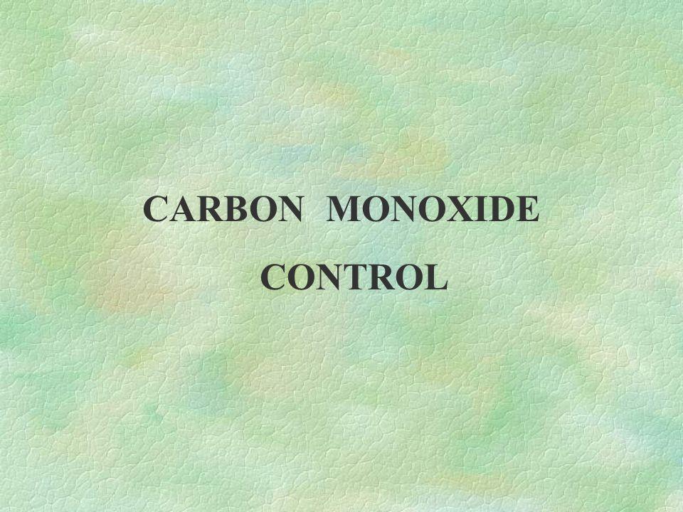 CARBON MONOXIDE CONTROL
