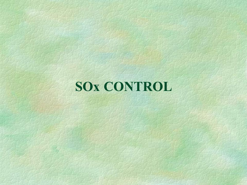 SOx CONTROL