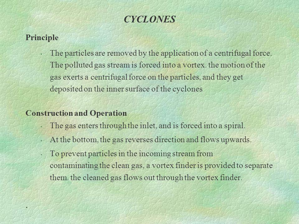 CYCLONES Principle.